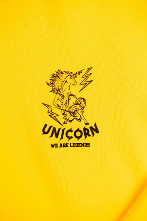 Sweat Classique Gold Zoom de face Unicorn