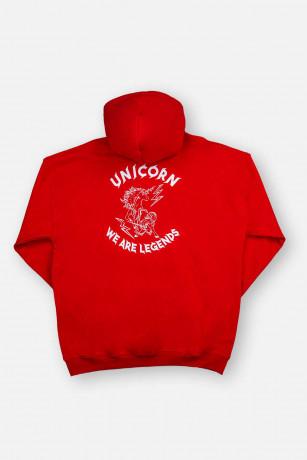 Sweat Classique Rouge vue de dos Unicorn