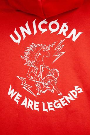 Sweat Classique Rouge vue Zoom de dos Unicorn