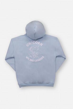 Sweat Classique Light Blue Vue de dos Unicorn