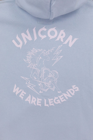 Sweat Classique Light Blue Zoom de dos Unicorn