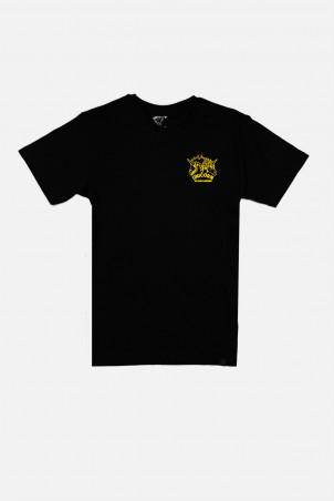 T-shirt collector classiue skeleton Noir et Jaune Vue de face Unicorn