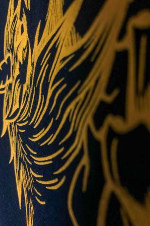 T-shirt collector classiue skeleton Noir et Jaune Zoom relief Unicorn