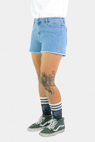 SHORT WOMEN DENIM BLUE
