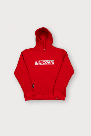 Sweat Pro Rouge Vue de Face Unicorn