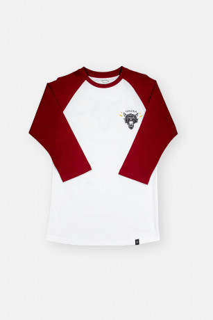 Raglan Collection Viking Wolf Bordeaux vue de face Unicorn