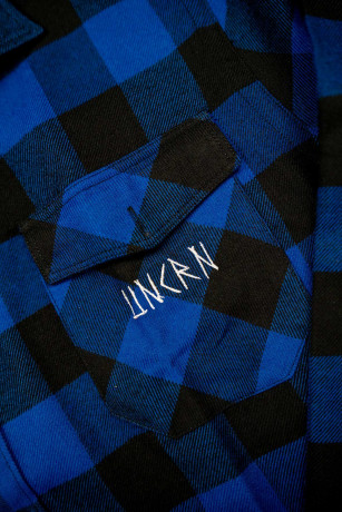 Chemise Collection Viking UNCRN Typo Bleu Zoom Logo Unicorn