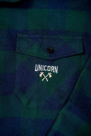 Chemise Collection Viking AXES Vert Zoom Logo Unicorn