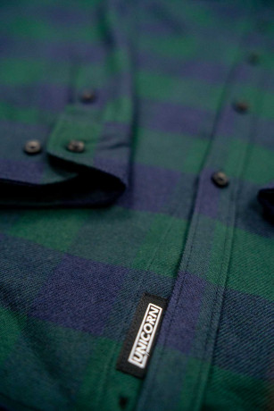 Chemise Collection Viking AXES Vert Zoom Boutons Unicorn