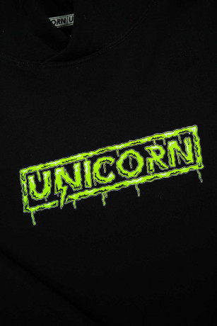 Sweat Capsule Zombie Vert Zoom de Face Unicorn