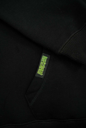 Sweat Capsule Zombie Vert Zoom etiquette poche Unicorn
