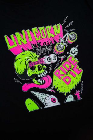 T-shirt Capsule Zombie Noir Zoom de dos Unicorn