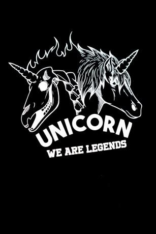 T-shirt Classique Skeleton Noir Zoom Logo Unicorn