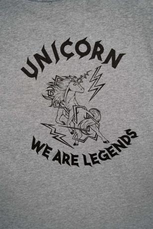 T-shirt Classique Gris Zoom de dos Unicorn