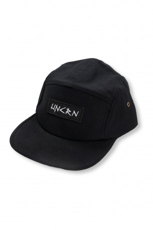 Casquette 5 Panel Black Typo