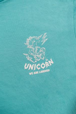 Crop Top Classique Bleu caraïbes Zoom Logo Unicorn
