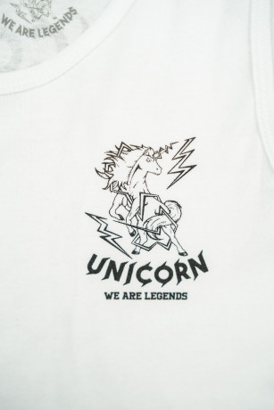 Crop Top Classique Blanc Zoom Logo Unicorn