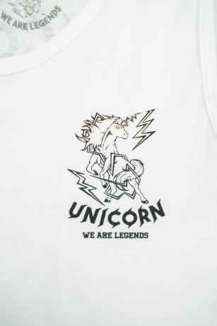 Débardeur Classique Blanc Zoom de face Unicorn