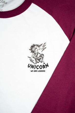 Raglan Collector Prune zoom logo coeur Unicorn