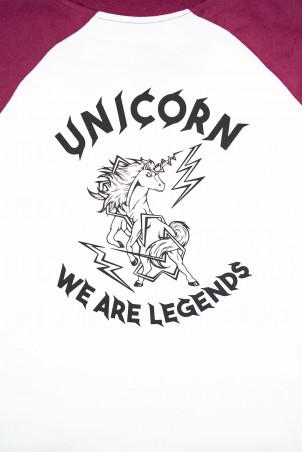 Raglan Collector Prune zoom dos logo Unicorn